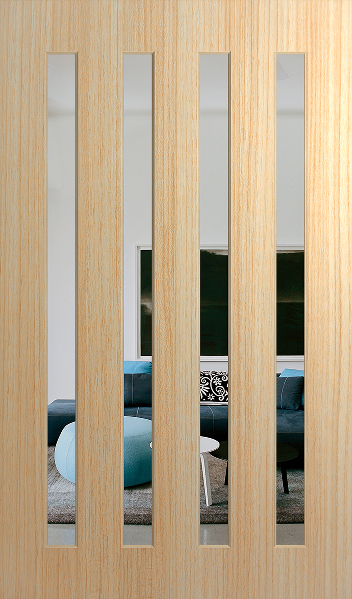 Clear & XS26 Savoy Entrance Door 2340x1200x40mm - XS26-2340-1200 by Hume Doors