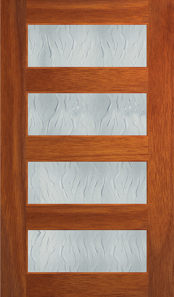 Hume 2040 X 1200 X 40mm Savoy Clear Glass External Door In